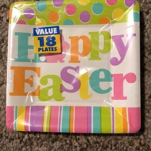 18 Small Happy Easter Paper Plates